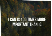 I can is 100 times more important than IQ.